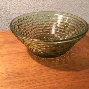 Vintage Anchor Hocking Green Soreno Texture Bowl